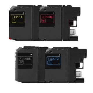 4PK Compatible LC201 BK LC201 Y LC201 C LC201 M Inkjet Cartridge For Brother MFC J460DW J480DW J485DW J680DW ( Pack of 4 )
