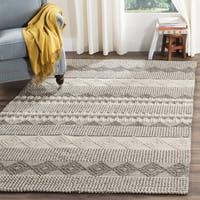 Safavieh Natura Handmade Bohemian Grey/ Ivory Wool Rug - 3' X 5'