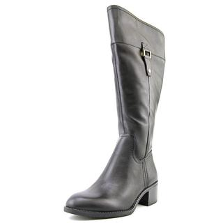 Franco Sarto Women's Lizbeth Wide Calf Black Leather Boots