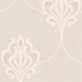 Brewster Cream Noveau Damask Wallpaper