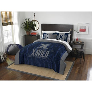 The Northwest Company Xavier Modern Take Blue and Grey Polyester Full/Queen 3-piece Comforter Set