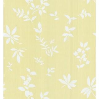 Brewster Light Yellow Fern Wallpaper