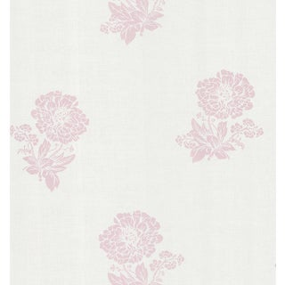 Brewster Pink Floral Silhouette Wallpaper