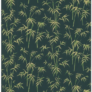 Brewster Vintage Green Bamboo Wallpaper