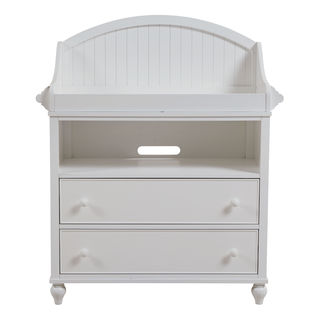 Somerset White MDF/Metal/Wood 6-drawer Changing Dresser