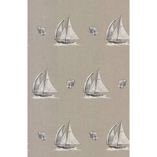 Brewster Neutral Sailboat Wallpaper