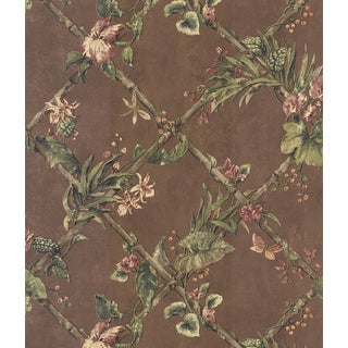 Brewster Brown Vinyl Leaf Wallpaper