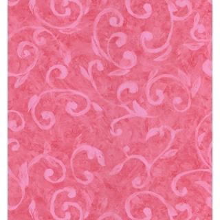 Brewster Magenta Scroll Wallpaper
