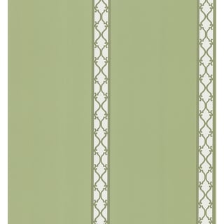 Brewster Green Lattice Stripe Wallpaper