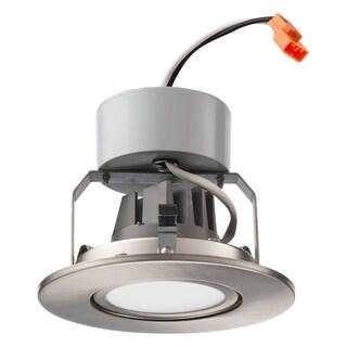 "Lithonia Lighting 4G1BN LED 30K 90CRI M6 3000K LED Gimbal Module, 4"", Brushed Nickel"