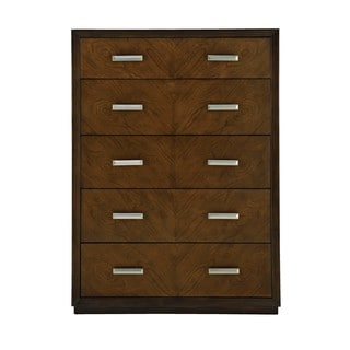 Hayden Cherry Wood 5-drawer Tall Chest