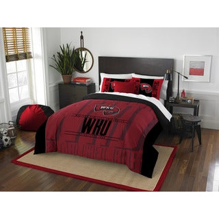 The Northwest Company Western Kentucky Modern Take Red and Black Polyester Full/Queen 3-piece Comforter Set