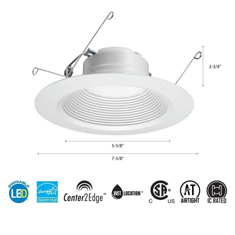 Lithonia Lighting 4BEMW LED 27K 90CRI M6 Matte White 2700...