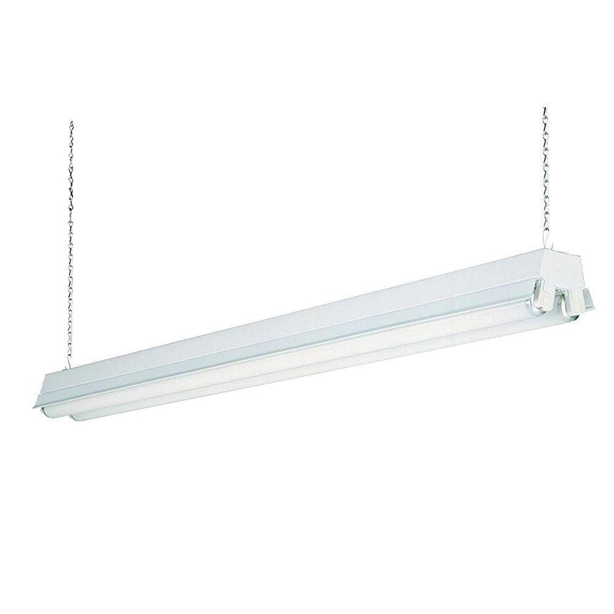 Details about lithonia 48 in l 2 lights t8 fluorescent light fixture white