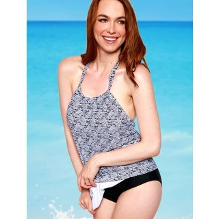 Women's Black and White Sequence Hanky Top (5 options available)
