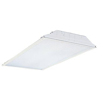 Lithonia Lighting GT4L41W MV 2-foot x 4-foot 4,100K 4-light Fluorescent Pre-wired Lensed Troffer