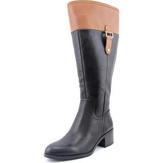 Franco Sarto Women's Lizbeth Wide Calf Leather Boots
