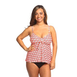 Women's Swing 3-D Pink Nylon and Spandex Swim Top