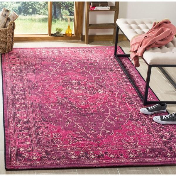 shop safavieh palazzo black cream fuchsia pink overdyed area rug 2 39 6 x 5 39 on sale free. Black Bedroom Furniture Sets. Home Design Ideas