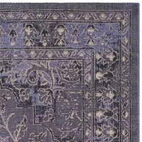 Safavieh Palazzo Black/ Cream/ Light Purple Overdyed Area Rug - 2' 6 x 5'