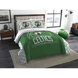 The Northwest Company NBA Boston Celtics Reverse Slam White and Green Full/Queen 3-piece Comforter Set