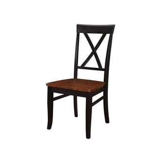 Emerald Belmar Black and Cherry x Back Dining Chair-set of 2