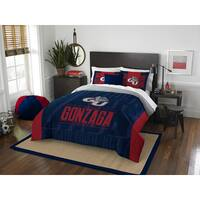 The Northwest Company COL Gonzaga Modern Take Blue and Red Full/Queen 3-piece Comforter Set