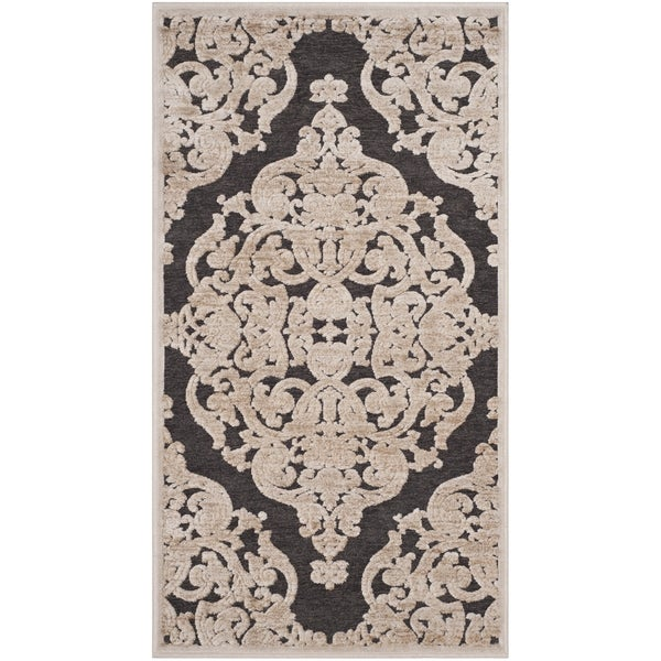 Safavieh Paradise Watercolor Vintage Stone/ Anthracite Viscose Rug - 3'3 x 4'7