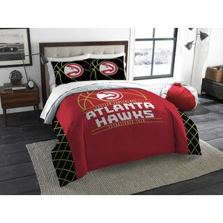 The Northwest Company Atlanta Hawks Multicolored Polyester Reversible Full/Queen 3-piece Comforters Set