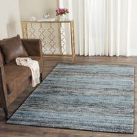 Safavieh Porcello Modern Stripe Charcoal/ Blue Rug - 3' x 5'