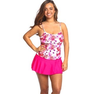 Women's Peacock Red Tankini Swimsuit Top
