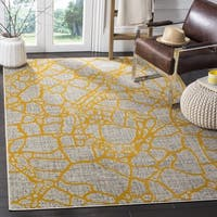 Safavieh Porcello Modern Abstract Light Grey/ Yellow Rug - 3' x 5'