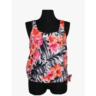 Women's Multicolored Nylon/Spandex Tankini