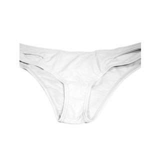 White Lycra Cut Side Bikini Bottom
