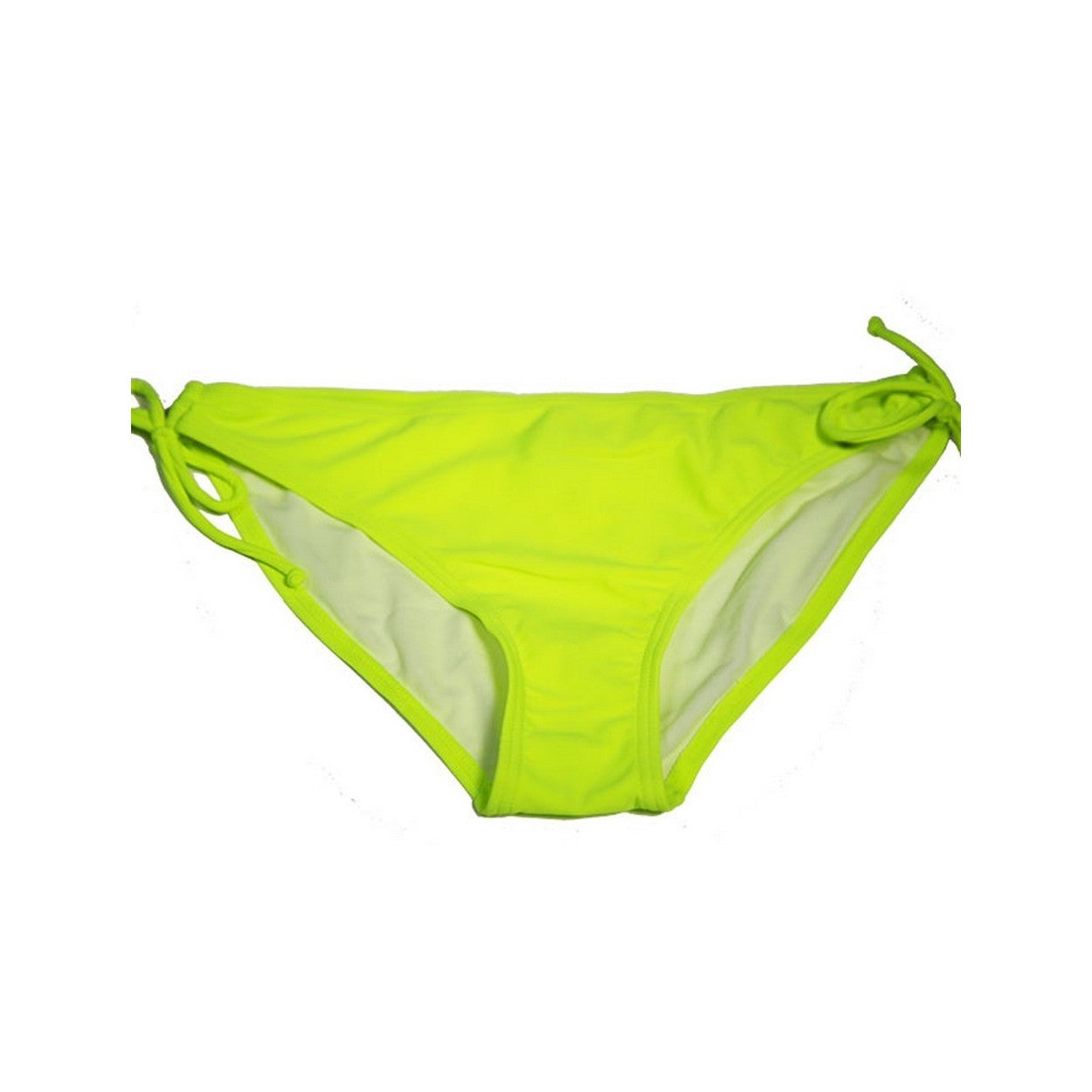 The Key Hole Bottom 'Neon Yellow' Yellow Lycra Bikini Bot...