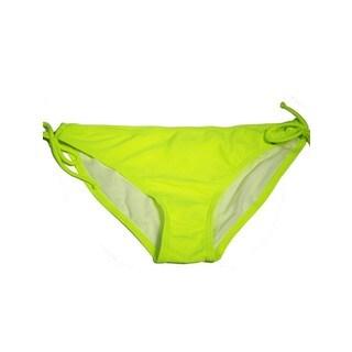 The Key Hole Bottom 'Neon Yellow' Yellow Lycra Bikini Bottom