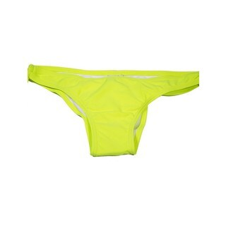Women's Neon Yellow Nylon and Spandex Cheeky Keyhole Swimsuit Bottom (3 options available)