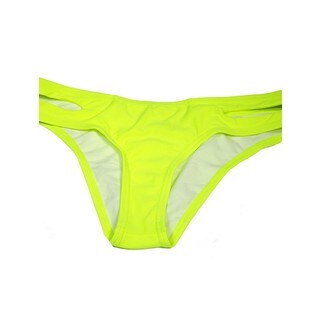 The Cut Side Yellow Nylon/Spandex Swimsuit Bottom (2 options available)