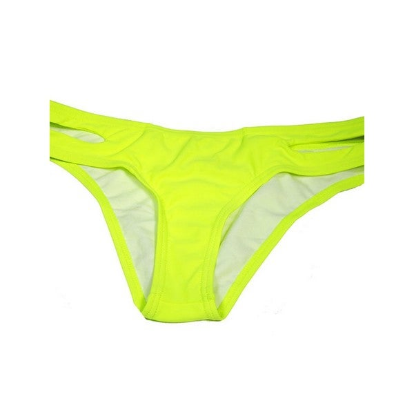 58c4d7e598c Shop The Cut Side Yellow Nylon/Spandex Swimsuit Bottom - Free Shipping On  Orders Over $45 - Overstock.com - 13263072