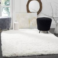Safavieh Polar Shag White Fluffy Silken Rug - 3' x 5'