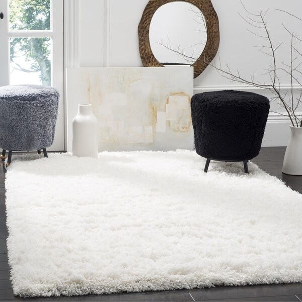 Shop Safavieh Polar White Shag Rug 3 X 5 Free