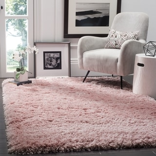 Safavieh Polar Light Pink Shag Rug (4' x 6')