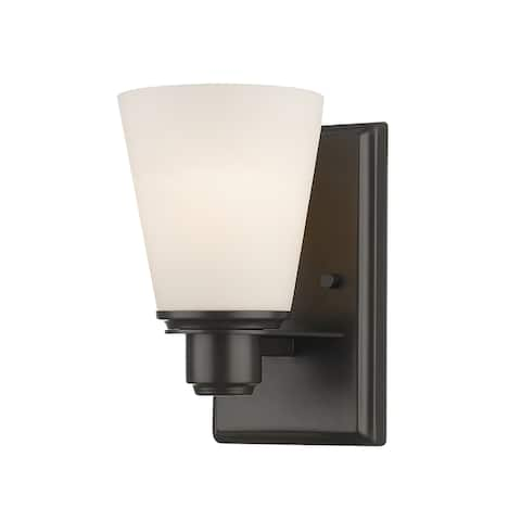 Avery Home Lighting Kayla collection 1 Light Vanity Light in Bronze Finish