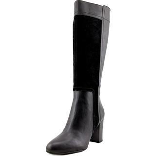 Franco Sarto Women's Jilla Black Leather Boots