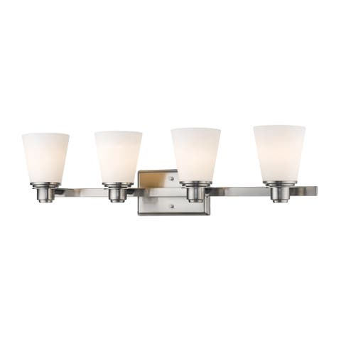 Avery Home Lighting Kayla collection 4 Light Vanity Light in Brushed Nickel Finish