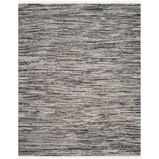 Safavieh Hand-Woven Rag Cotton Rug Grey Cotton Rug (4' x 6')