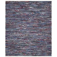 Safavieh Hand-Woven Rag Cotton Rug Blue/ Multicolored Cotton Rug - 4' x 6'