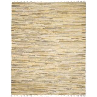 Safavieh Hand-Woven Rag Cotton Rug Gold/ Multicolored Cotton Rug (4' x 6')