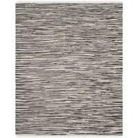 Safavieh Hand-Woven Rag Cotton Rug Black/ Multicolored Cotton Rug - 4' x 6'