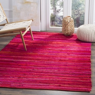 Safavieh Hand-Woven Rag Cotton Rug Red/ Multicolored Cotton Rug (3' x 5')